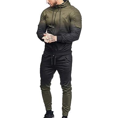 Pants Sports Sets Tracksuit 3PC Men Hoodie Sweatshirt Coat Long Sleeved Tops