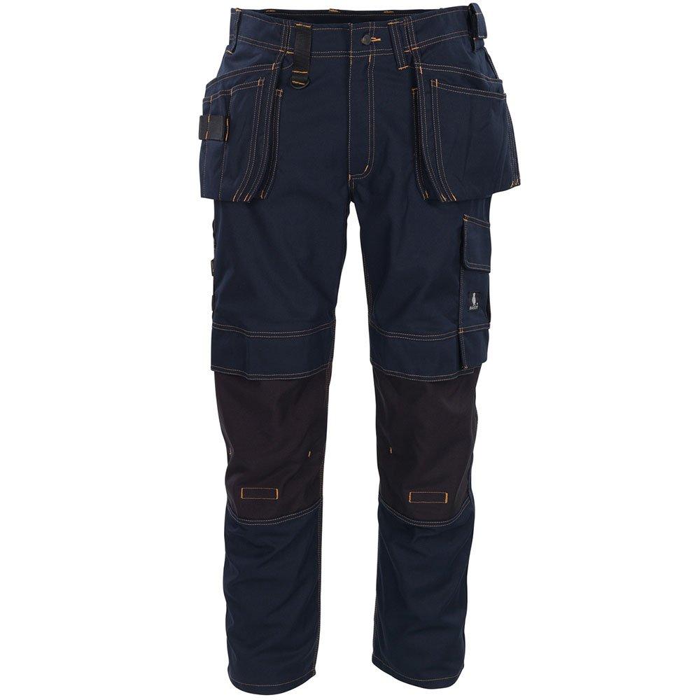 "Mascot 06231-010-010-90C54 Size L90cm/C54 ""Almada"" Craftsmen's Trousers - Black/Blue"