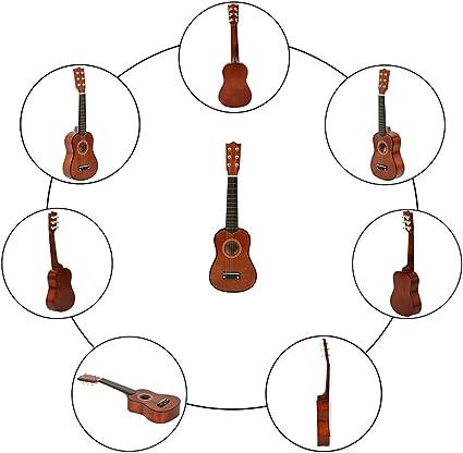 Guitarra acústica de 6 cuerdas de 53,3 cm, guitarra Mnidi para ...