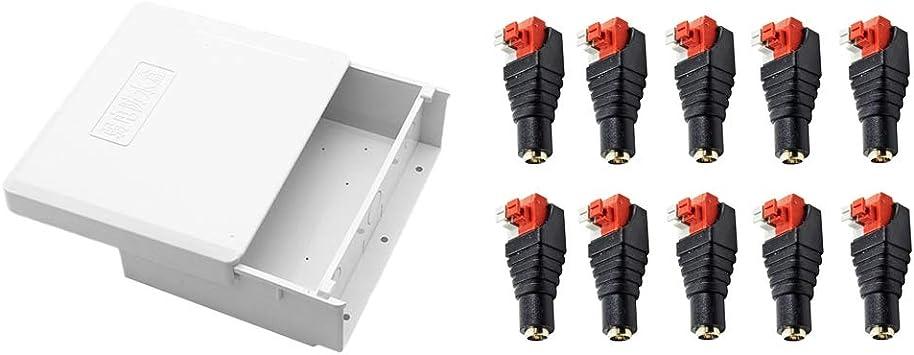 Gazechimp Caja De Interruptores De Empalmes Electrónicos + 10pcs 12V Adaptador De Enchufe Hembra Jack DC: Amazon.es: Electrónica