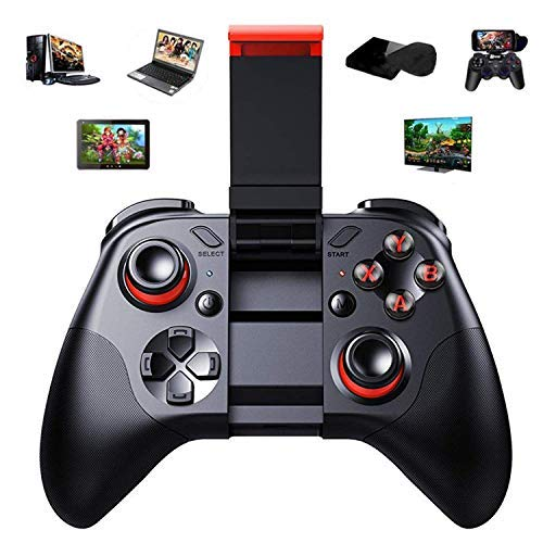 Bluetooth Wireless Video Game Controller – Gamepad Gaming Joystick With Holder Remote Control for Android, Mobile Smart Phone, OS, Samsung Gear VR, Tablet, PC, TV Box, Laptop, Steam Games - Control Phone