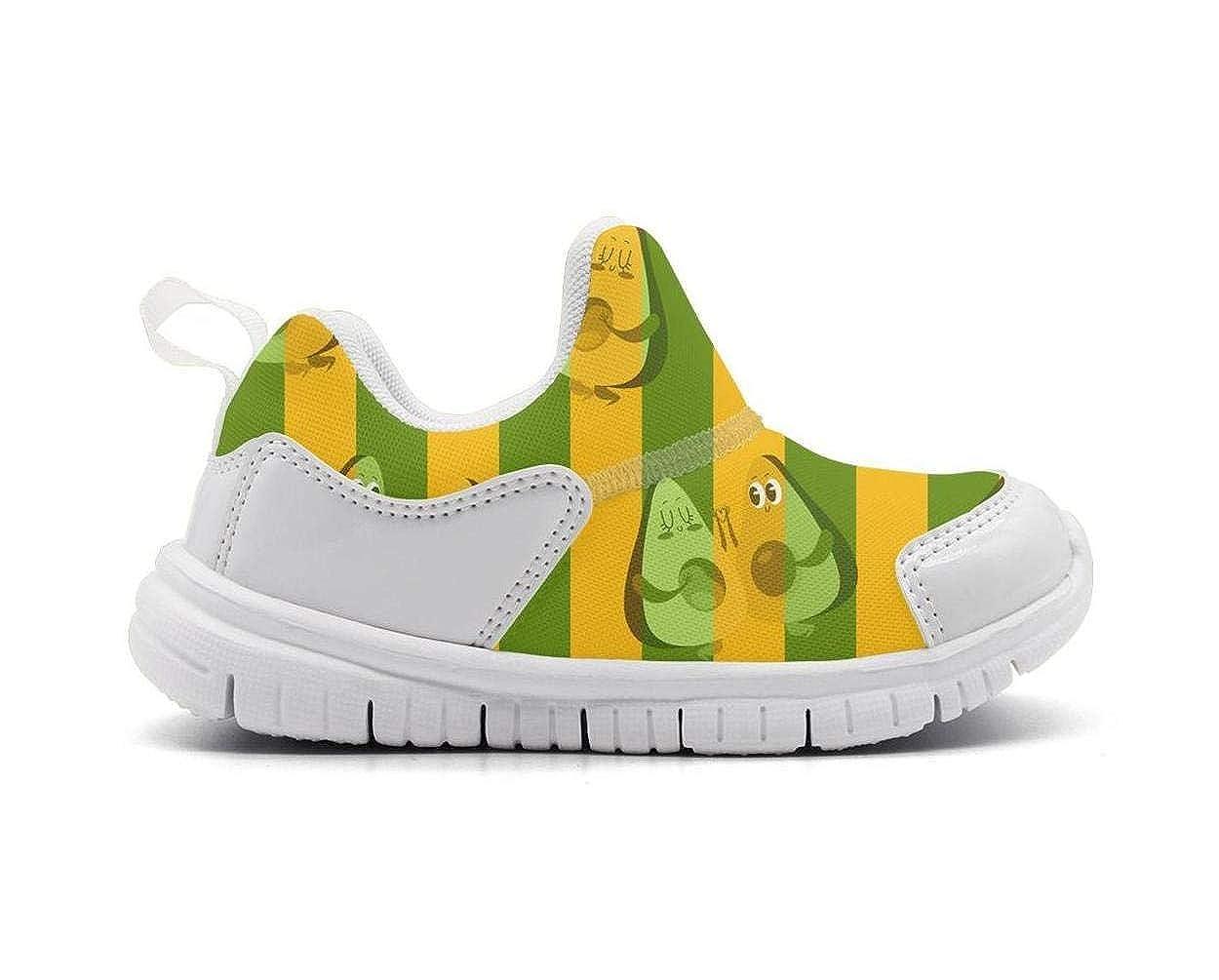 Babys Avocado heart Logo Outdoor Lightweight Mesh Sneakers Running Shoe