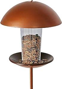 LIMEIDE Wild Bird Feeder for Garden Yard Outside , Poles in Backyard Garden, Patio,Gift idea for Parents ( Stake Round Shape)