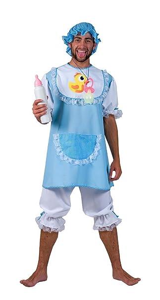 Karneval Klamotten Baby Kostum Erwachsene Herren Kostum Blau Weiss