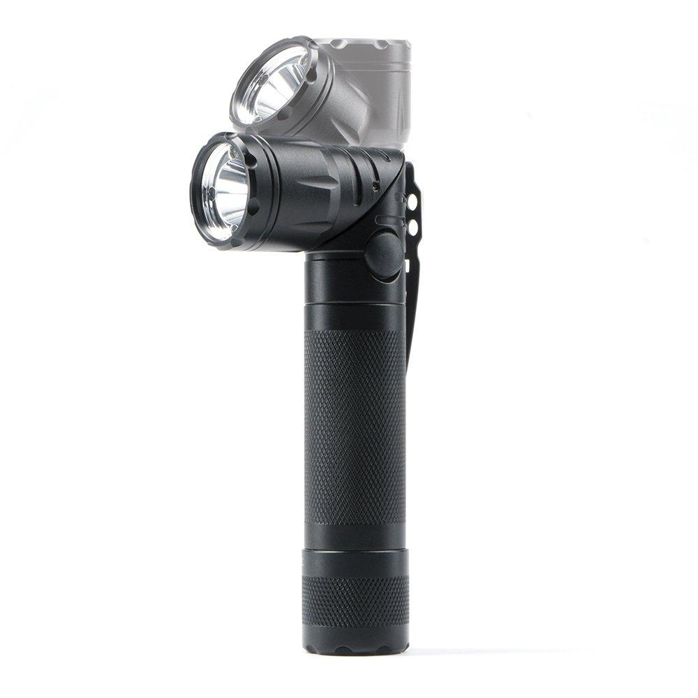 Guard Dog Sicherheit Reflex Drehstuhl Lünette Freisprecheinrichtung 600 LM Tactical Taschenlampe, schwarz