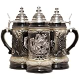BSG19-1423606DRAGON Handcrafted St George The Dragon Slayer LE German Beer Stein