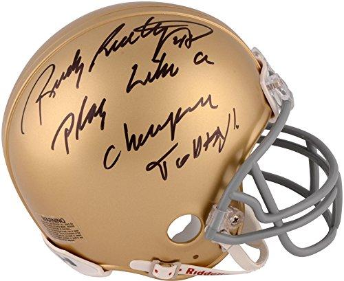 Rudy Ruettiger Notre Dame Fighting Irish Autographed Riddell Mini Helmet with