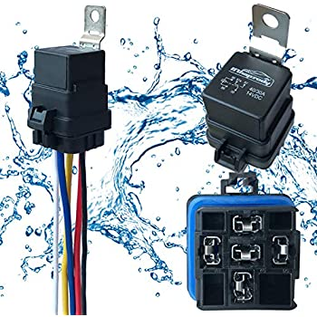 Enjoyable Amazon Com Online Led Store 40 30 Amp Waterproof Relay Switch Wiring Cloud Staixuggs Outletorg