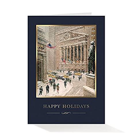 Amazon pack of 25 wall street greetings premium wintry wall pack of 25 wall street greetings premium wintry wall street 5x7 foldover holiday cards with 25 m4hsunfo