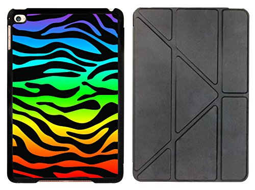 Rikki Knight Zebra Design on Rainbow Design Smart Case for The Apple iPad Mini 4 ONLY