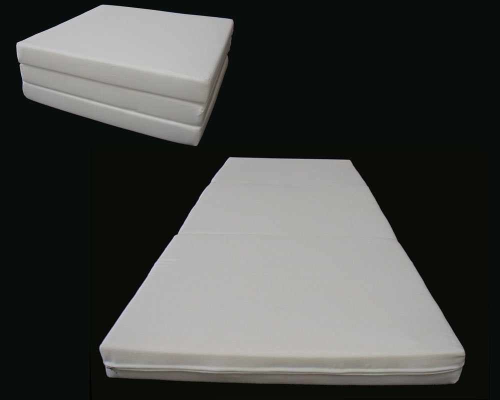 amazon com brand new white shikibuton trifold foam beds 3 thick x