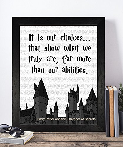Ravenclaw Costume Uk (Presents Gifts For Teens Kids Boys Girls Harry Potter Lovers Fans Birthday Christmas Xmas Vintage It Is Our Choices Prints Posters Wall Art Home Decorations)