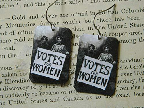 Earrings feminist earrings Votes for Women