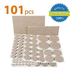 X-PROTECTOR Premium CLASSIC Pack Furniture Pads 101 piece! Furniture Feet Felt Pads - Your Best Value Pack Wood Floor Protectors. Protect Your Hardwood & Laminate Flooring with 100% Satisfaction!