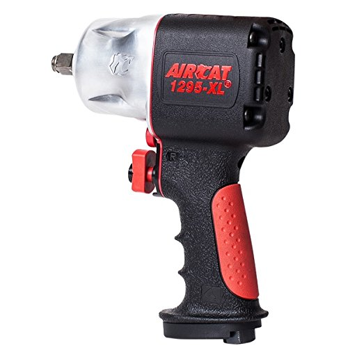 AIRCAT 1295-XL 1/2'' Drive Full Power Compact Composite Impact Wrench, Silver/Black by AirCat