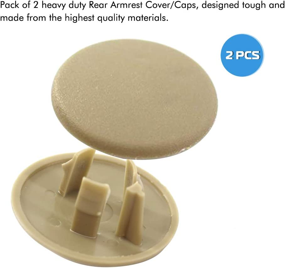 Yukon Beige Cadillac Escalade Seat Parts Left or Right Rear Bucket Seats Arm Rest Handle Trim Bolt Replaces 15279689 Suburban A ABIGAIL Armrest Cap Cover for 2007-2019 Chevy Tahoe