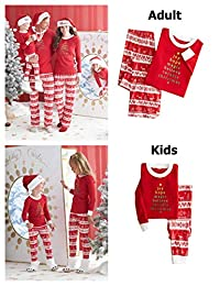 CAIYING Christmas Stop Elfing Around Printed Family Matching Pajama PJ Sets