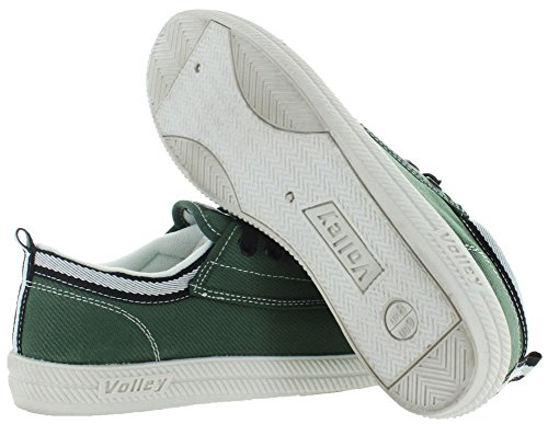 Volley International hommes de toile sneakers Fashion - Vert - Vert olive/noir,