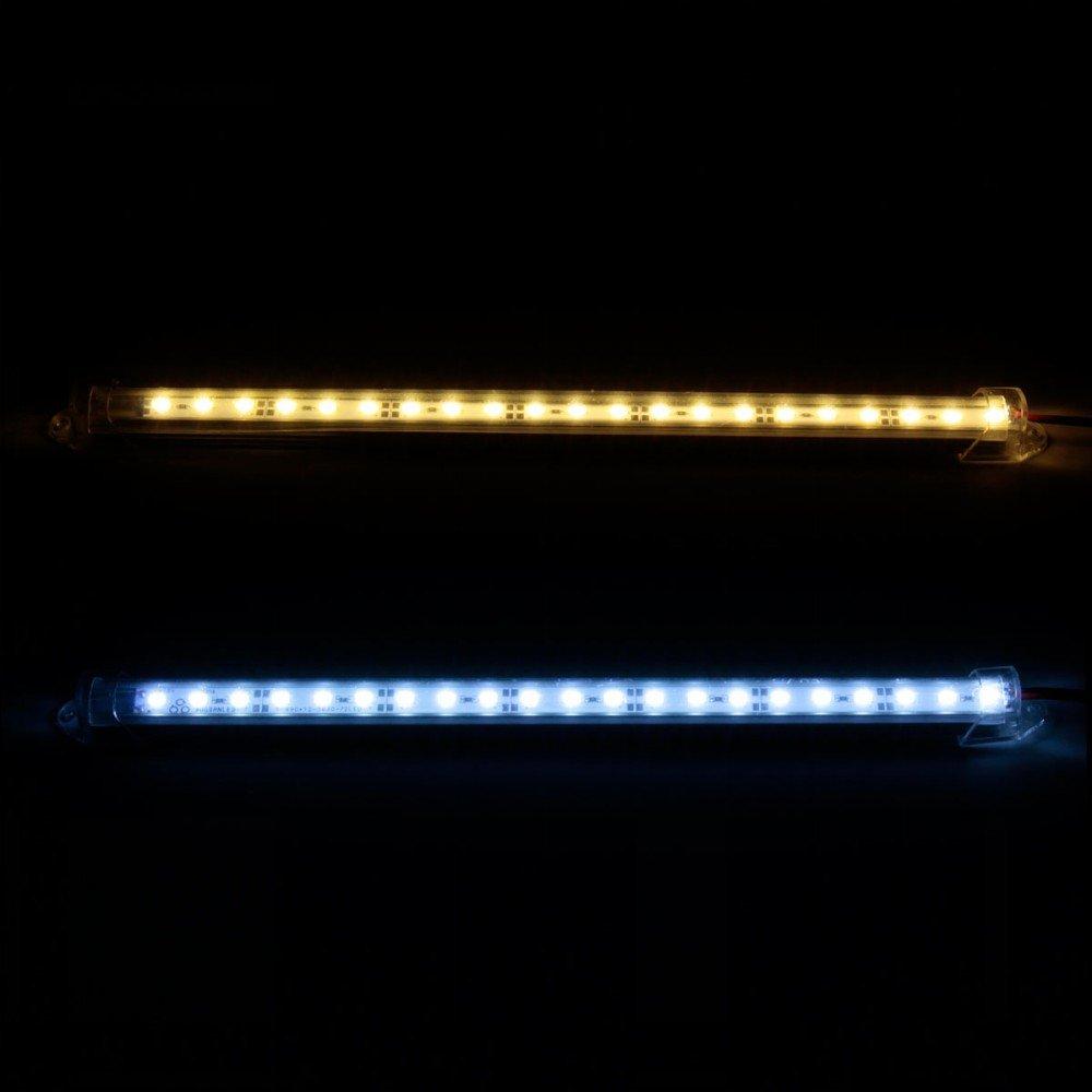 5630 SMD color blanco fr/ío para colocar en veh/ículos Tira de luz LED MFPower de 12 V 30 cm