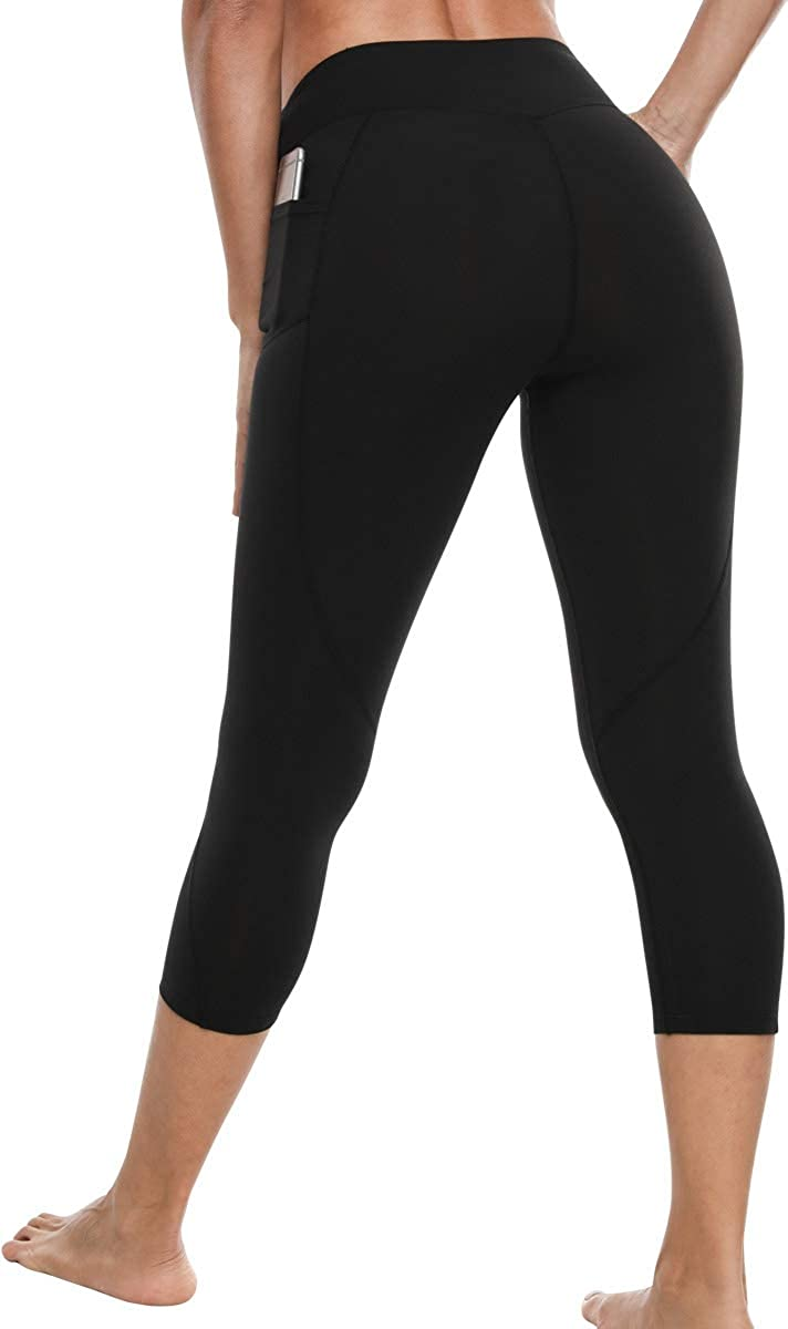 VUTRU Womens Out Pocket Yoga Pants Tummy Control Workout Running Gym Non See-Through 4 Way Stretch Leggings