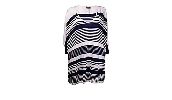 8d6a99258f1 Tommy Bahama Women s High Low Striped Beach Sweater Cover-Up
