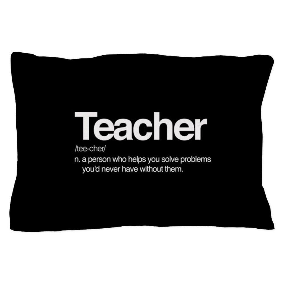 CafePress - Teacher Definition - Standard Size Pillow Case, 20''x30'' Pillow Cover, Unique Pillow Slip