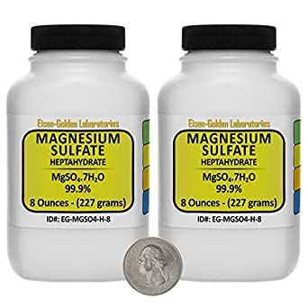 Magnesium Sulfate [MgSO4.7H2O] 99.9% USP Grade Crystals 1 Lb in Two