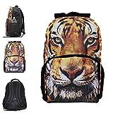 3-D Wildlife LED Light-Up Backpack - Bookbag For Kids - Tiger