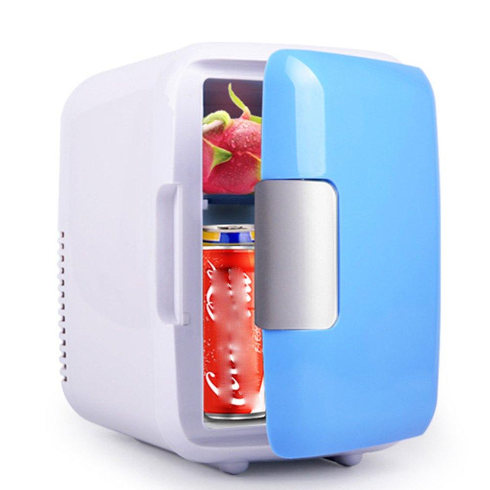 LIQICAI 4L Mini Kühlschrank Tragbarer Easy-Carry-Drehgriff 12V DC (Auto)/230V AC (Zuhause) (Farbe : for Car+Home)