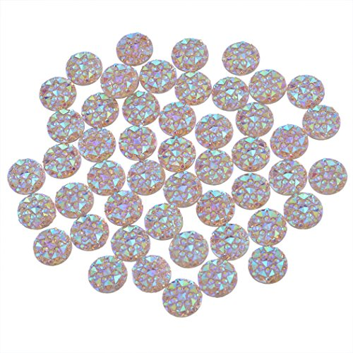 Souarts Champagne Resin Cell Phone Case Flatback Scrapbooking Dome Cabochons for Frame Setting 10mm Pack of 100pcs by Souarts (Image #3)