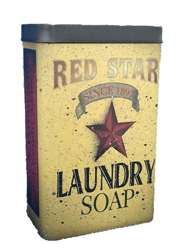 Country Laundry Room Decor - Tin - Red Star Laundry Soap - Primitve Country Rustic Vintage Look Advertising
