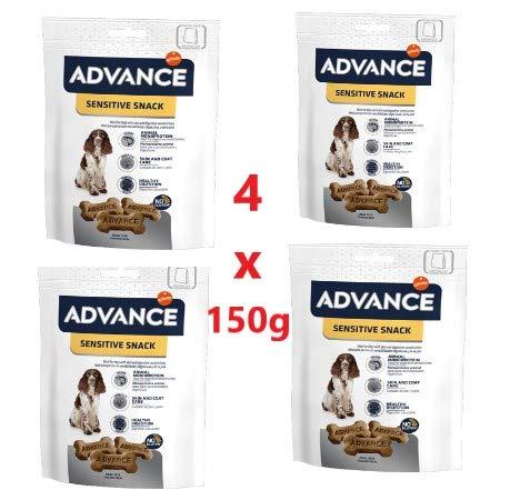 Advance 4 Paquetes de 150 g Sensitive Snack Affinity Salmón para ...