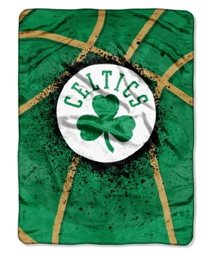 (The Northwest Company 1NBA/08030/0002/AMZ NBA Boston Celtics Shadow Play Plush Raschel Throw, 60