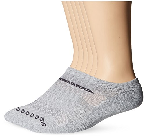Cut Low Performance Mens Socks (Saucony Men's 6 Pack Performance Comfort Fit No-Show, Grey Basic, Sock Size: 9.5-11.5)