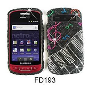 Music and Piano Diamond Bling Stones Snap on Cover Faceplate for Samsung Skyrocket i727