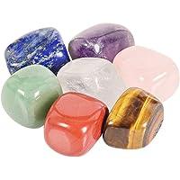 FOMIYES 7 stuks kleurrijke natuurlijke onregelmatige genezende kristallen genezing stenen set voor aarding kalmerende…