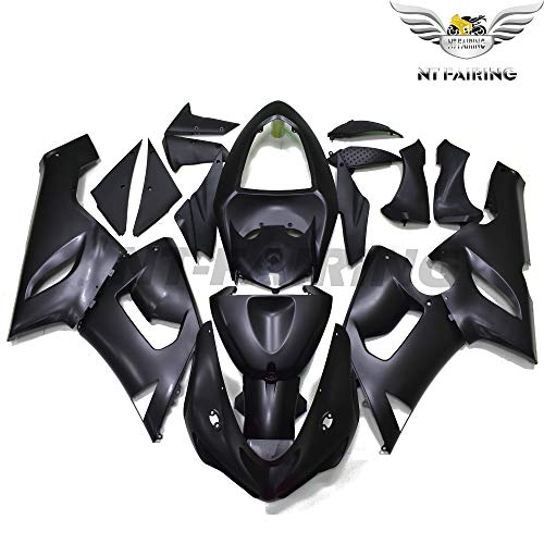 - NT FAIRING Fit for Kawasaki Ninja ZX6R 636 2005 2006 Matted Black Injection Molded Fairings Kit Body Kit Bodywork Plastic Set Bodyframe