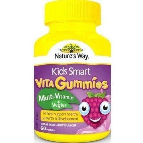 Nature's Way Kids Smart Vita Gummies Multivitamin + Vegies 60 Pastilles