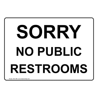 Amazon.com: compliancesigns aluminio Restroom Sign Público ...