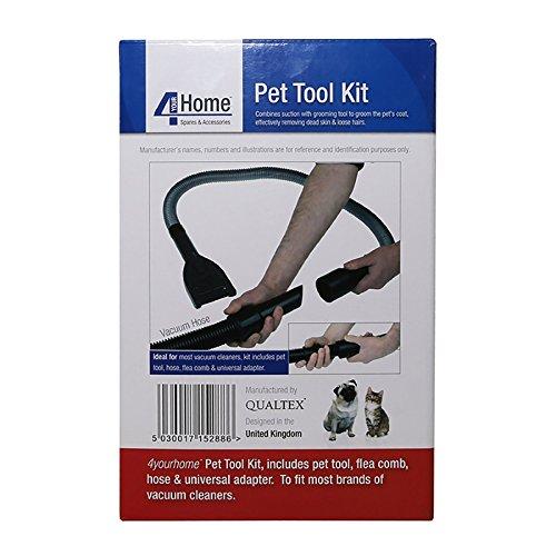 Qualtex Cat Deshedding Grooming Tool Kit, Black