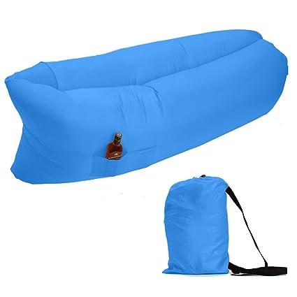 zuoao inflable tumbona playa camas de aire de compresión saco de dormir para silla para descansar