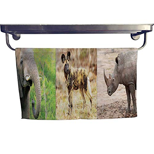 (Suchashome Beach Towels African Endangered Species Horizontal Banner Towel W 8