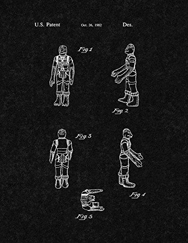 "Star Wars Bossk Patent Print Art Poster Black Matte (8.5"" x 11"")"
