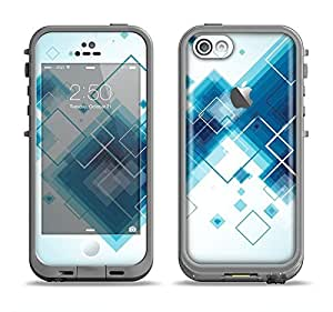 The Blue Levitating Squares Apple iPhone 5c LifeProof Fre Case Skin Set (Skin Only)