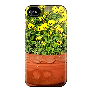 Hot ImxJIuI2543HdQLF Case Cover Protector For Iphone 4/4s- Spring Flower Pot