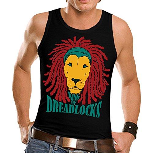 Wellcoda | Rasta Lion of Judah Men NEW Rastafaian Jamaica Bob Tank Top Black L