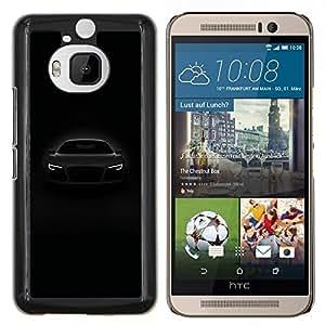Stuss Case / Funda Carcasa protectora - Frente de coches potentes luces Negro Blanco - HTC One M9+ M9 Plus
