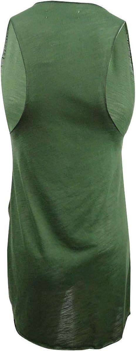 Miken Womens Sheer Tank Dress Swim Cover-Up