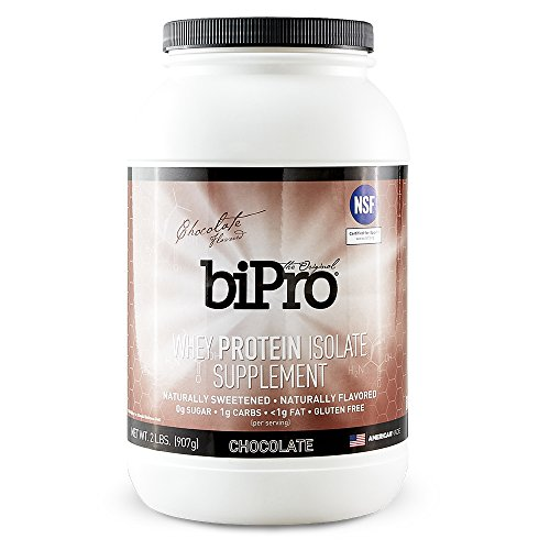 BiPro 100% Whey Protein Isolate, 2lb, Chocolate, All Natural, Sugar-Free, Lactose-free, Gluten-free, 100 calories Review