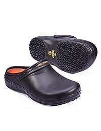 Unisex Non-Slip Clogs For Chef Nurse SensFoot Slip Resistant Work Shoes